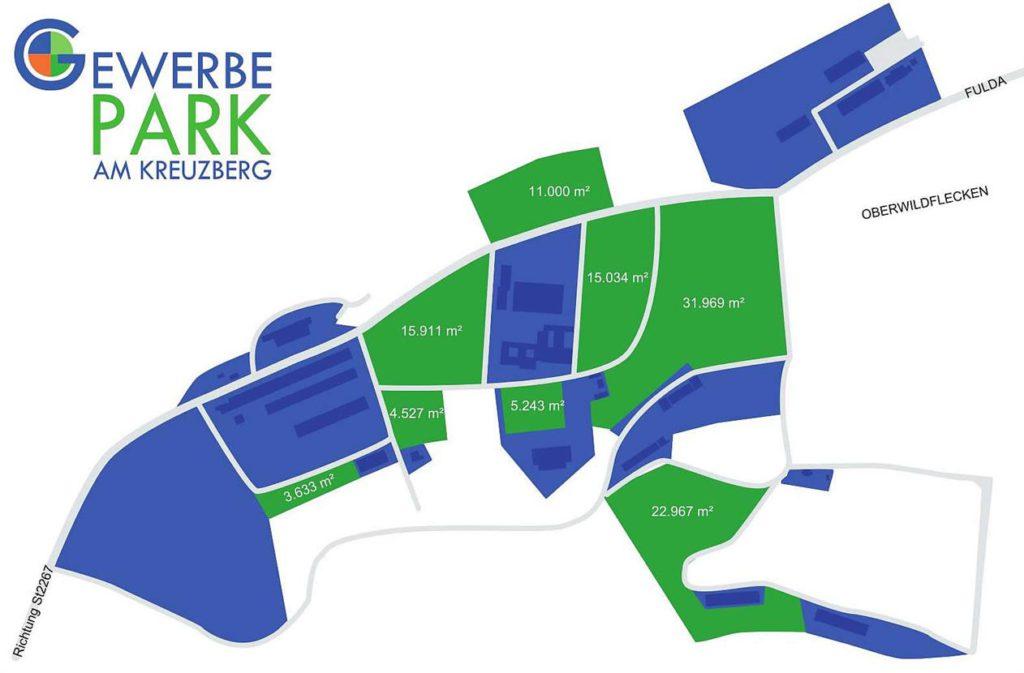 Flächenplan Gewerbepark